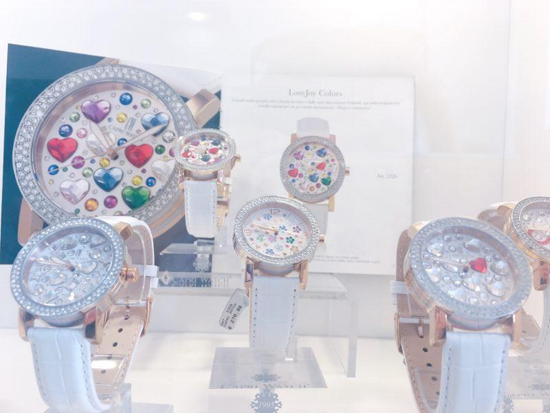 キラキラストーン時計【カプリ島 お土産】