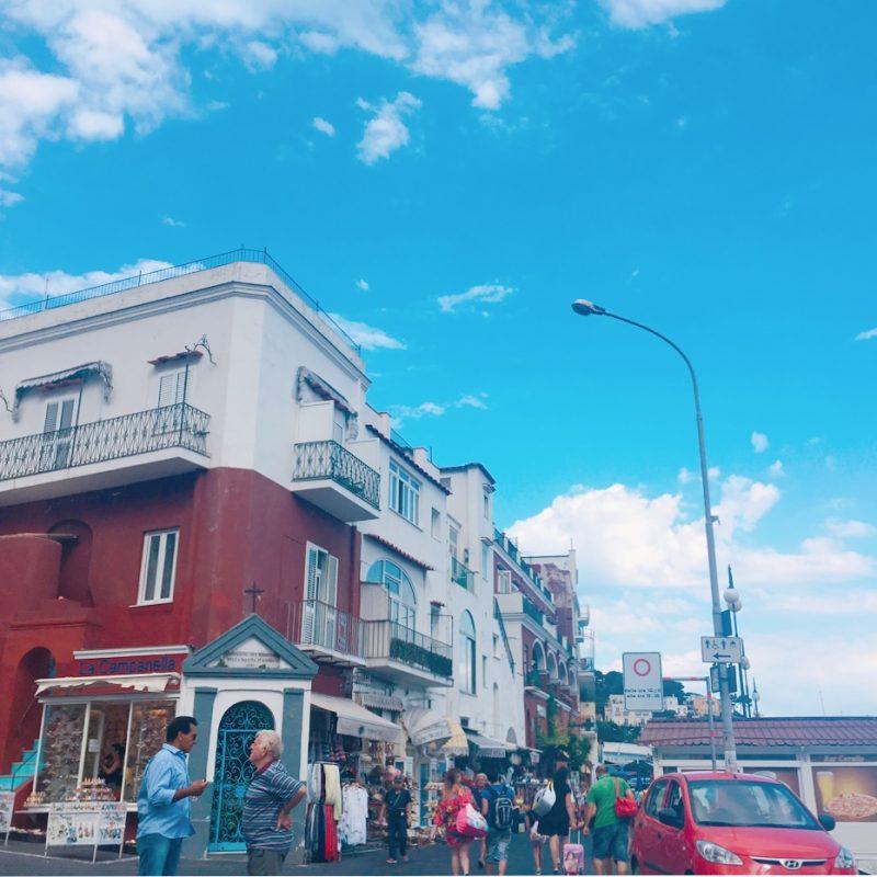 カプリ島の街並み
