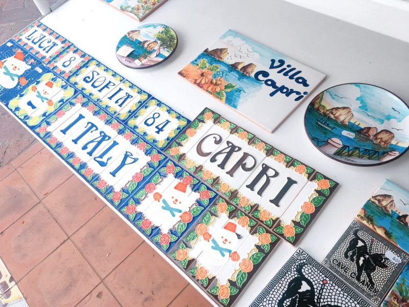 カプリ島の陶器製キッチン雑貨のお土産
