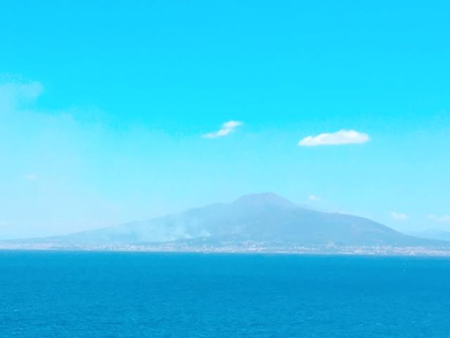 イタリアの森林火災による山火事