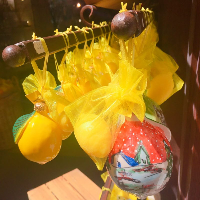 ソレントのお土産屋さんのレモン石鹸