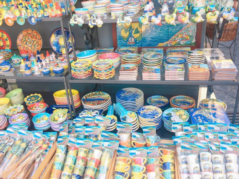 ソレントの陶器雑貨のお店