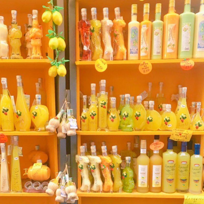 ソレント土産レモンチェッロのお店