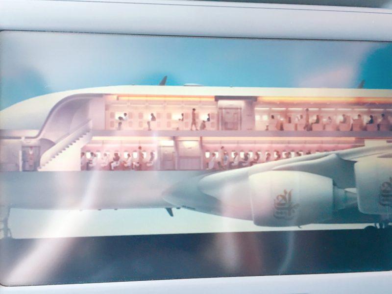 エミレーツ航空EK0098二階建て飛行機