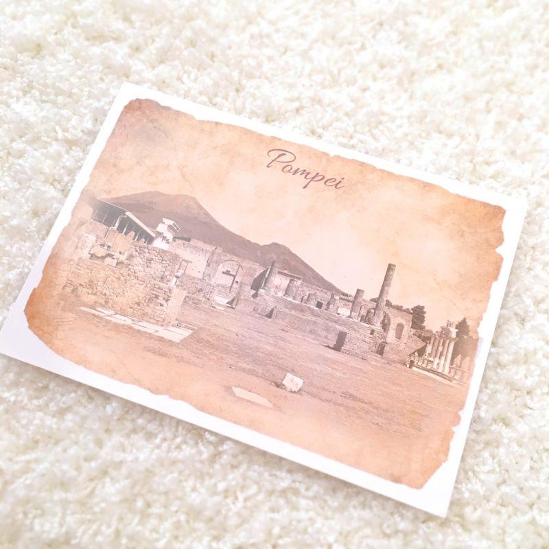イタリアのポンペイの絵葉書