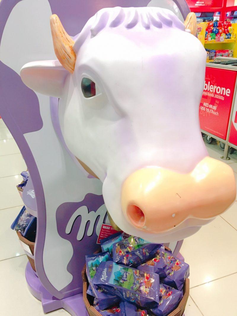 ミルカ(milka)チョコの牛のキャラクター