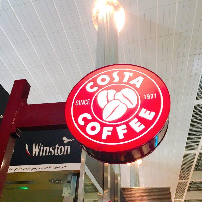 COSTAカフェ(ドバイ空港)