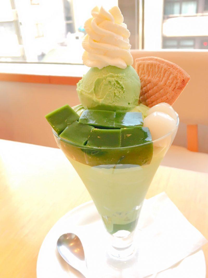 元祖抹茶パフェ(京はやしや京都三条店)
