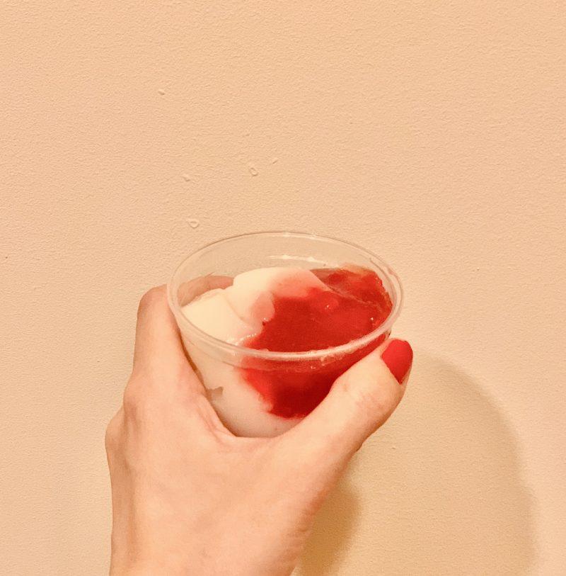 もっちりわらび餅苺ミルク