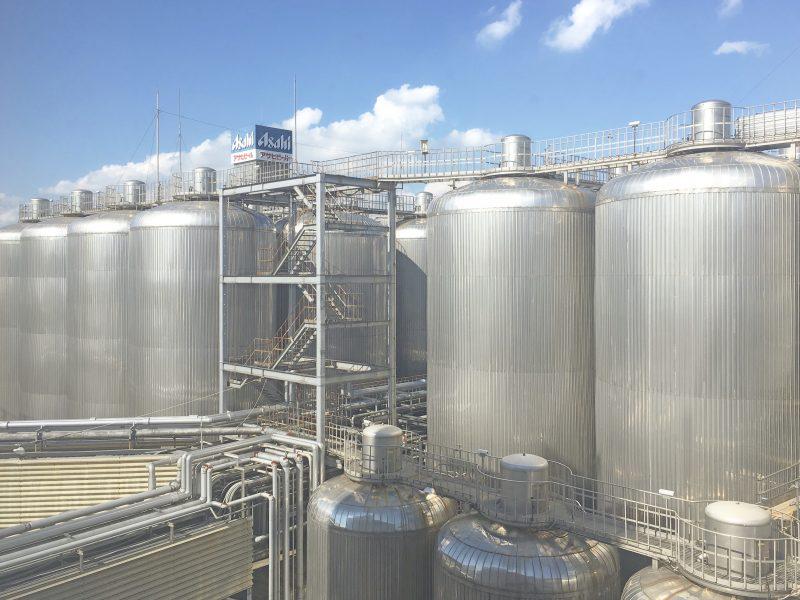 大阪アサヒビール工場見学に行ってきました*巨大なタンク