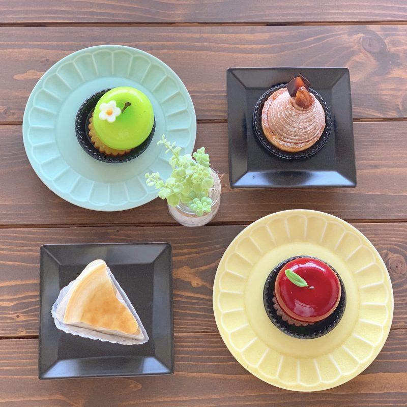 大阪インスタ映え!赤りんごと青りんごムースのケーキ*ケントハウス