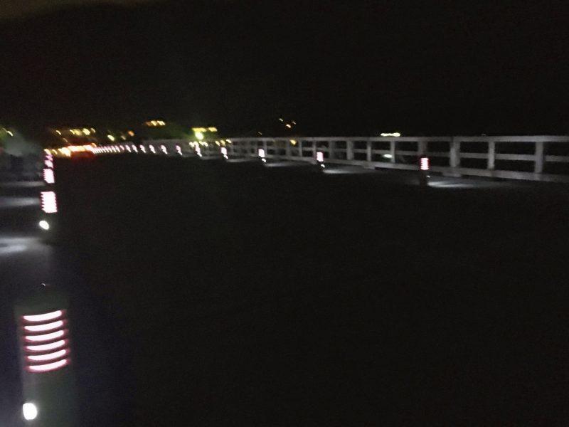 夜の渡月橋(嵐山)