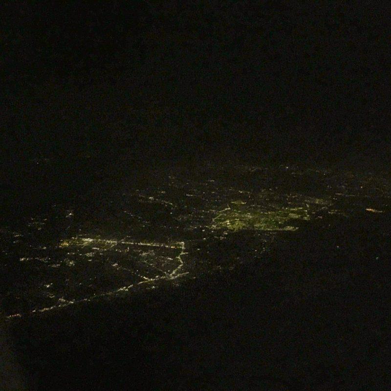 大阪仙台間*飛行機の上からの夜景