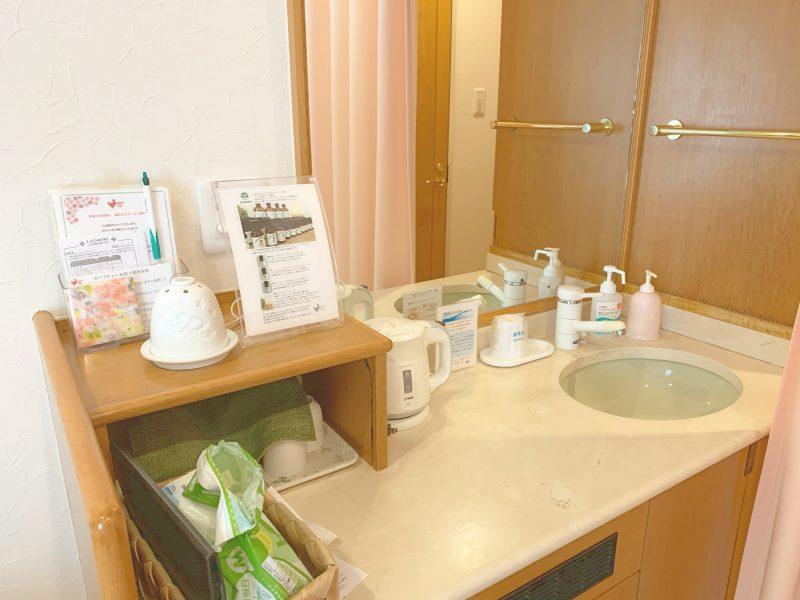 西川医院で無痛分娩!体験談*部屋(病室)の洗面台