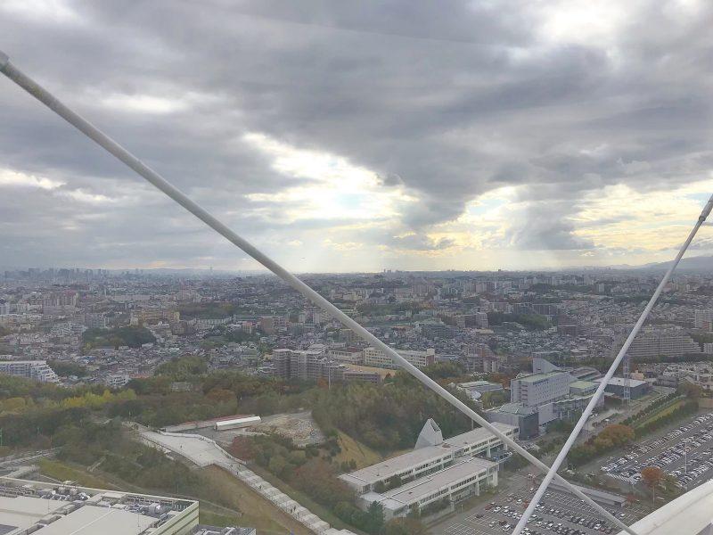 日本一高い大阪の観覧車『OSAKA WHEEL』からの景色