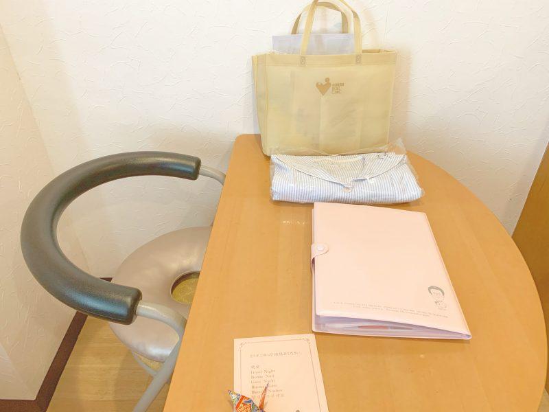 西川医院で無痛分娩!体験談*部屋(病室)の机と椅子