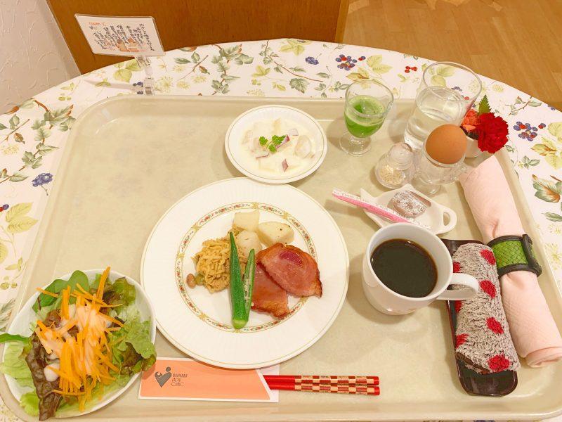 西川医院で無痛分娩!体験談*病院食3日目の朝ごはんのメニュー
