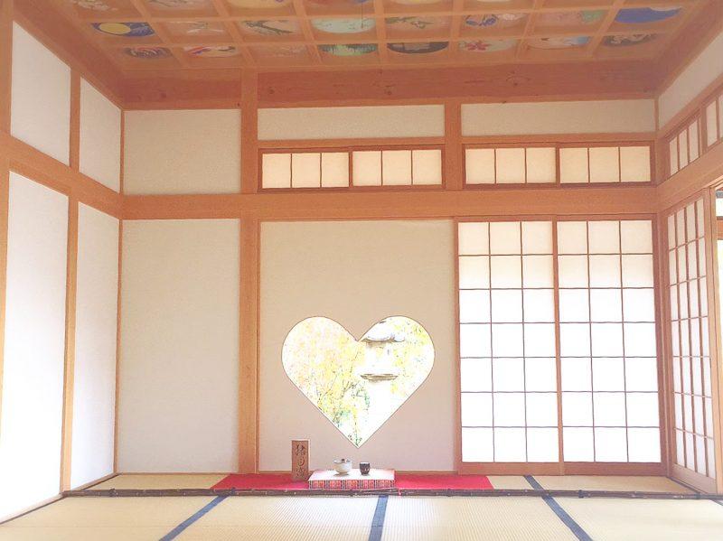 >宇治田原のハートの窓『正寿院』がインスタ映え♡