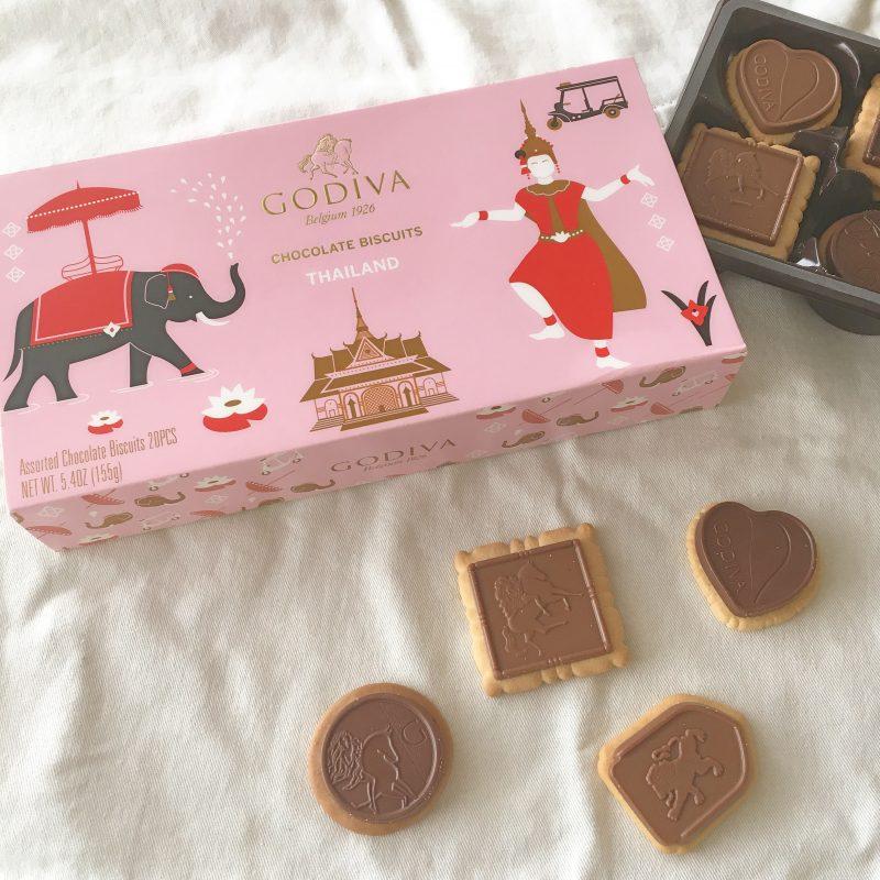 タイ限定GODIVAのお土産*象のピンクのパッケージがかわいい♡