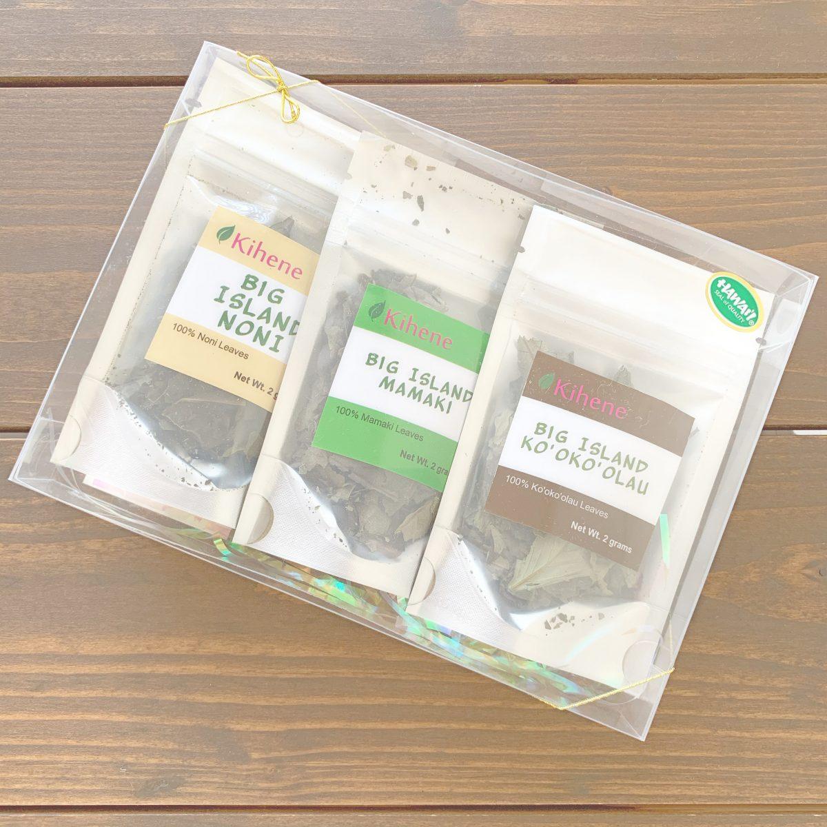 キヘネのママキ・ノニ・コオコオラウティー茶葉各2g詰め合わせ
