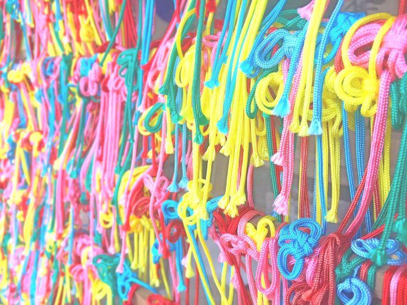 正寿院のカラフルな紐『叶紐』