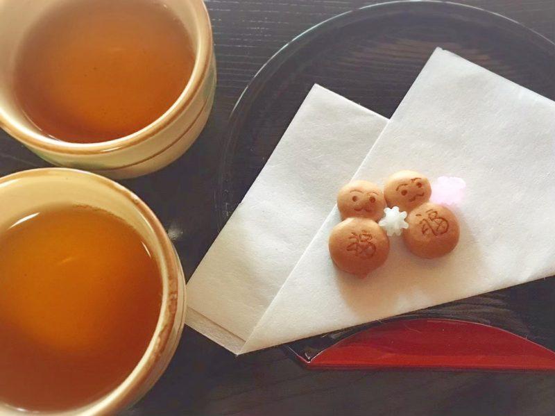 正寿院でゆきだるまのお菓子とお茶でほっこり♡