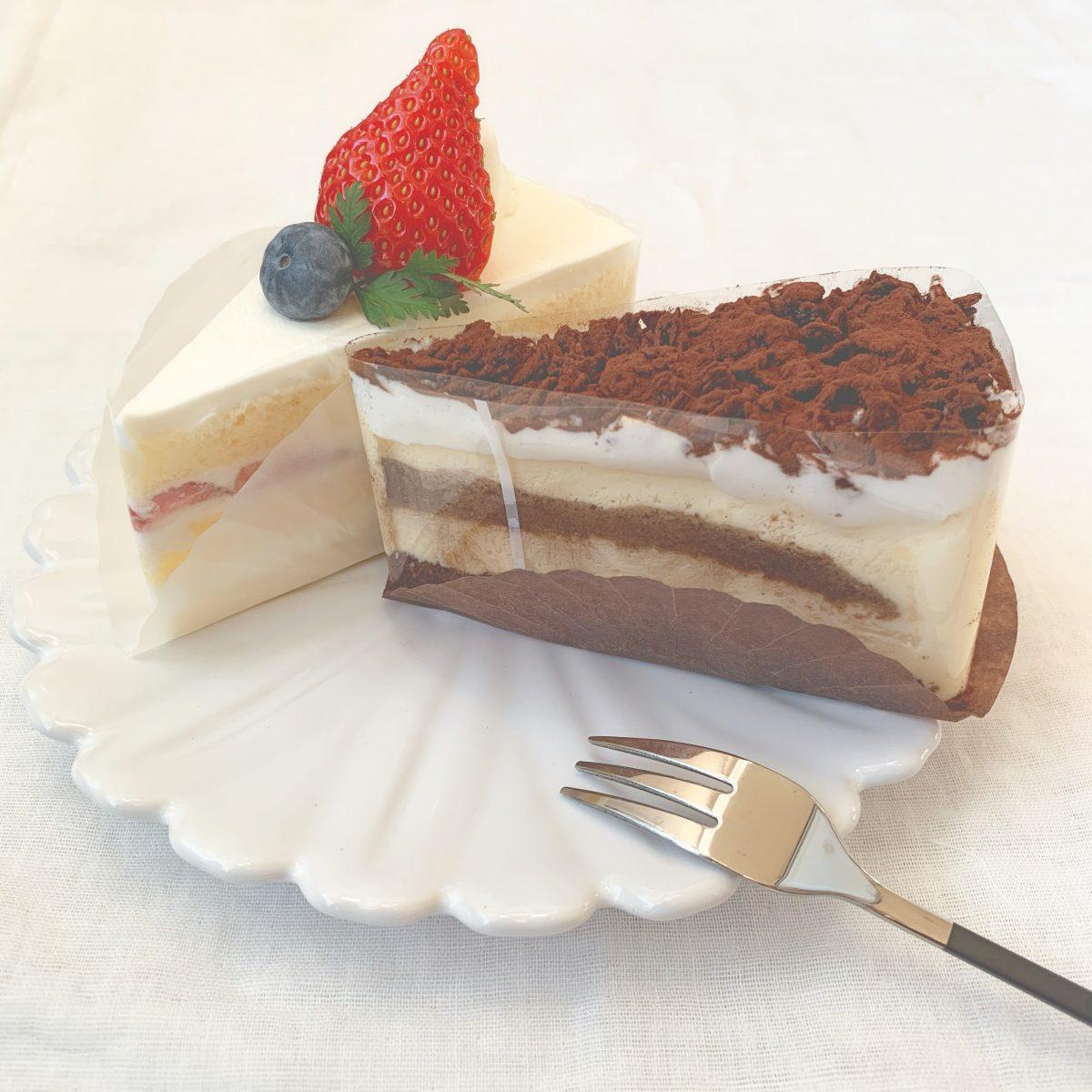 パティスリージョナのティラミスとショートケーキ