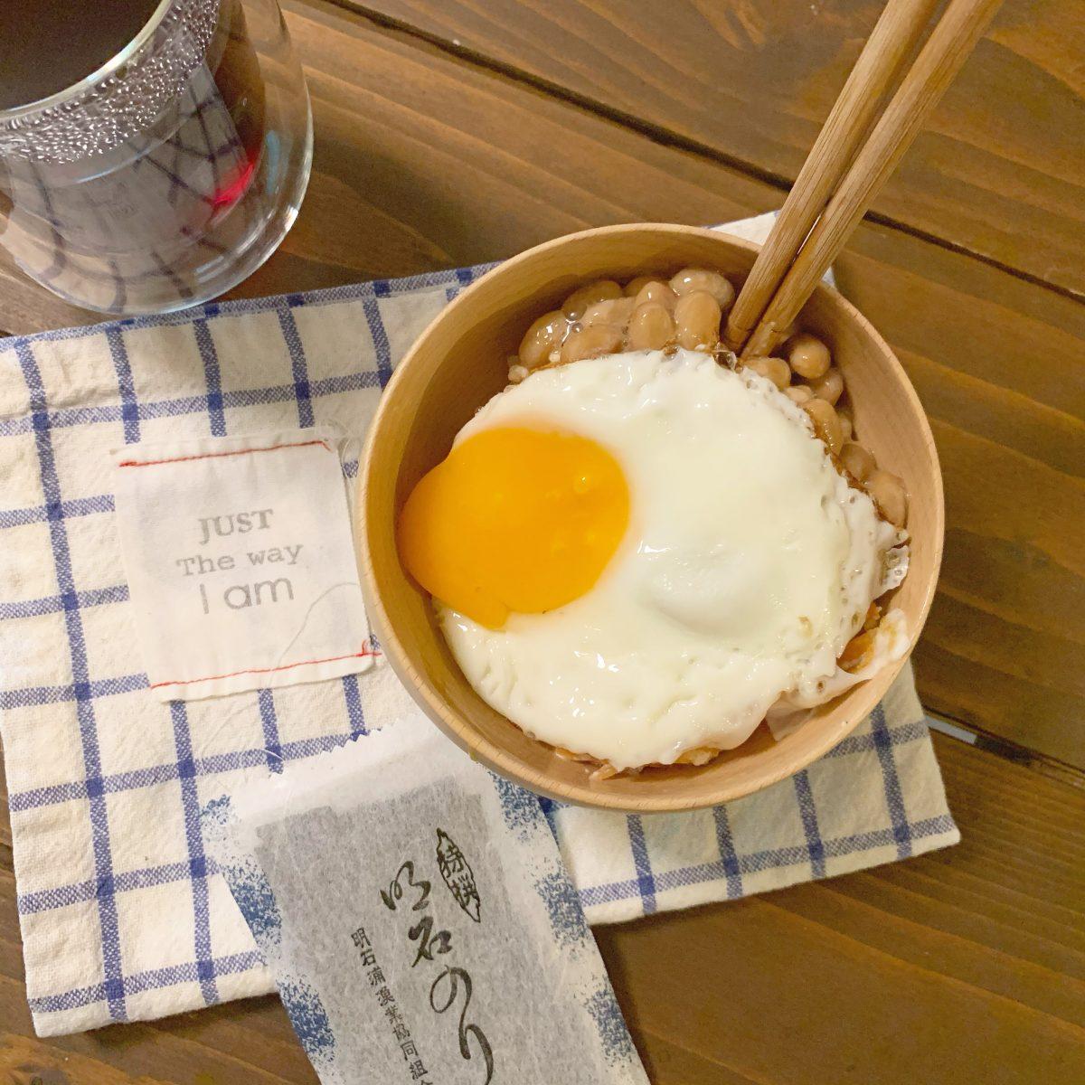 納豆卵白和えごはん