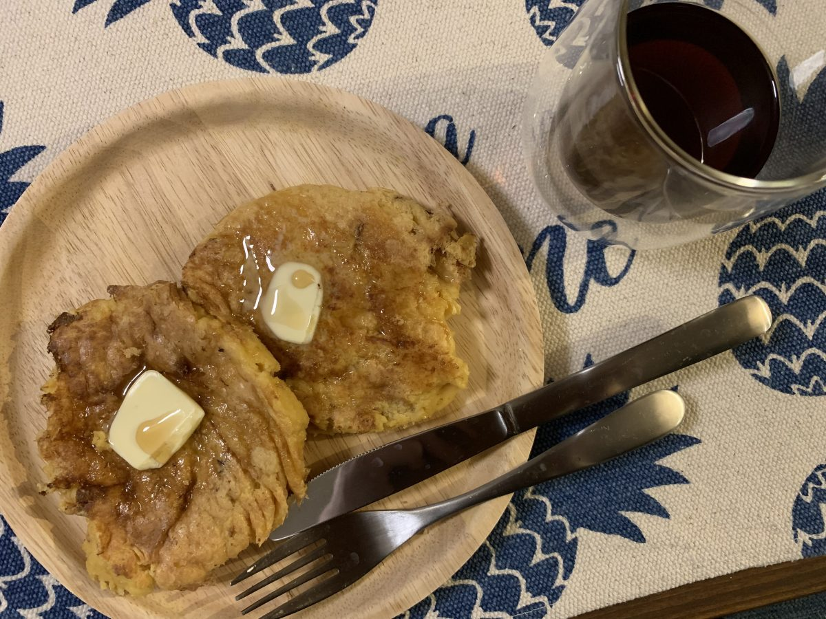 大豆粉のパンケーキ
