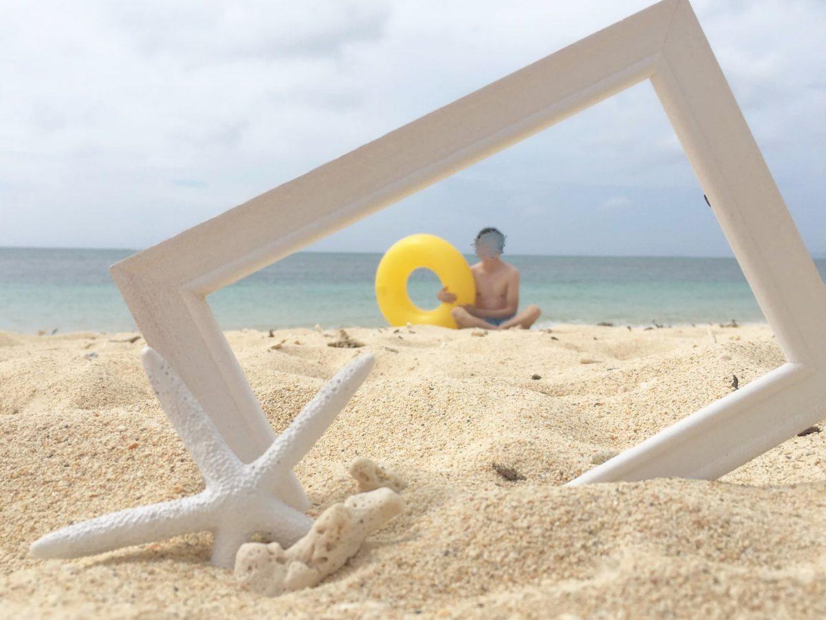 リザンシーパークホテル谷茶ベイのプライベートビーチへ