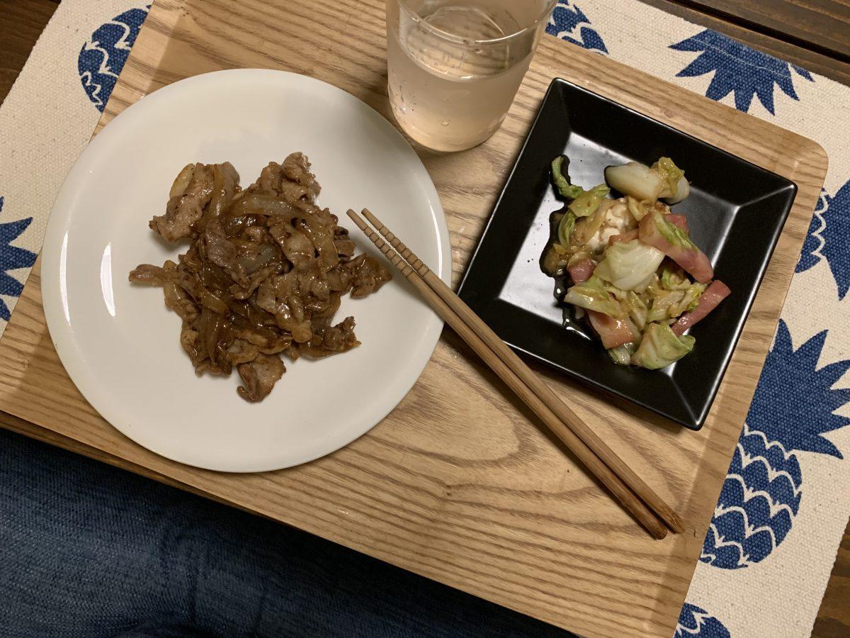 豚こまと玉ねぎの中華風丼ぶり