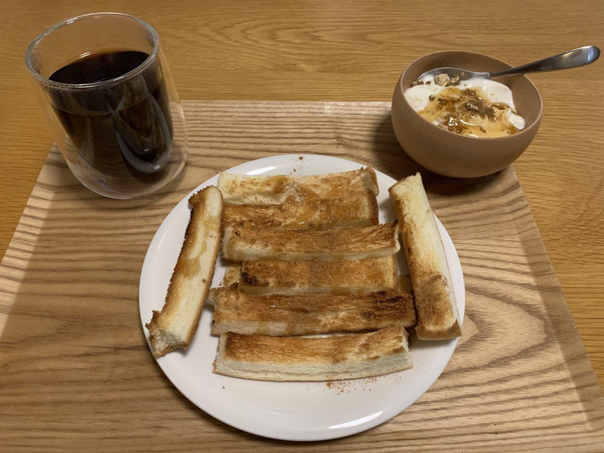 パンの耳朝ごはん