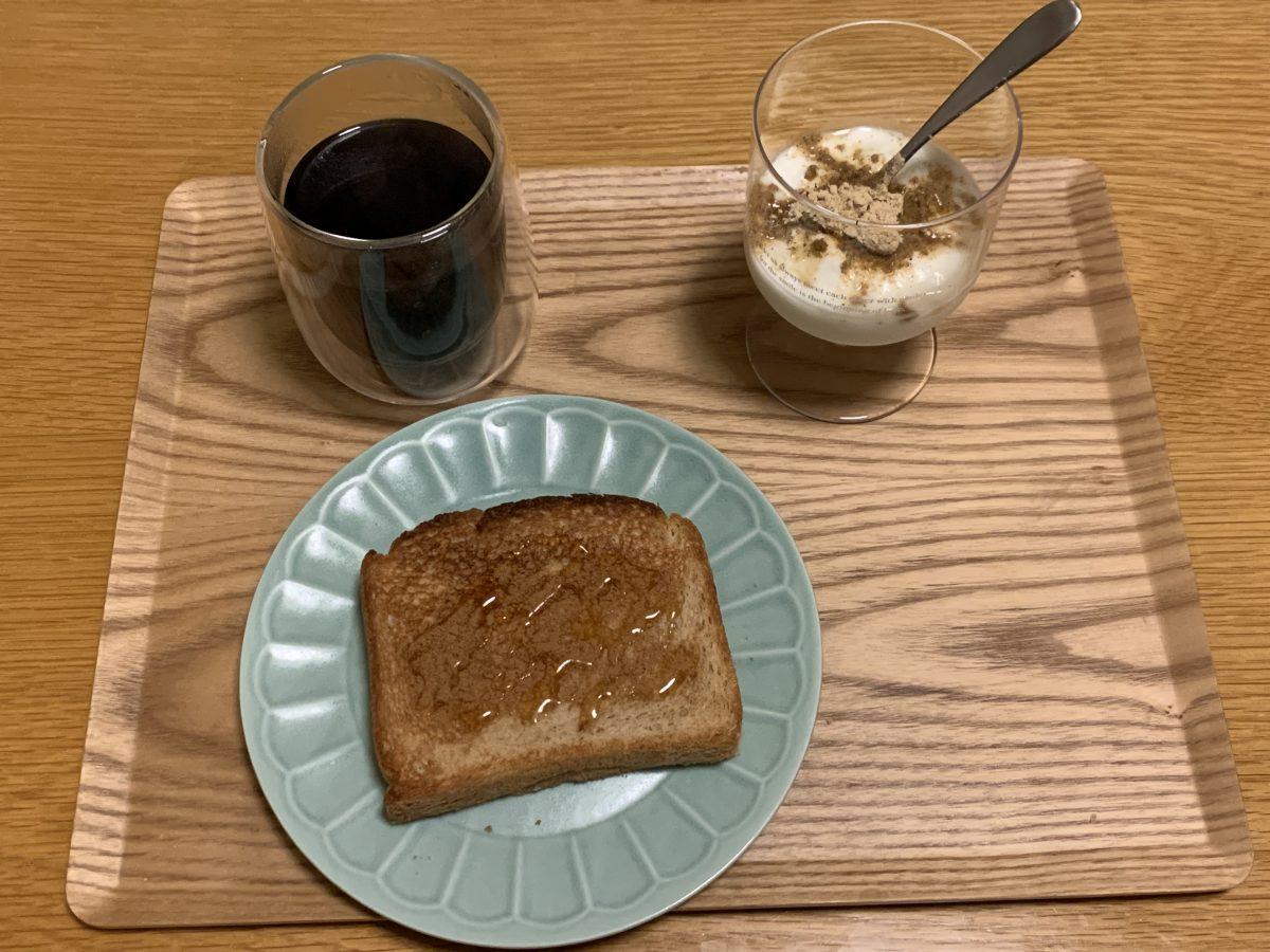 トーストの朝ごはん
