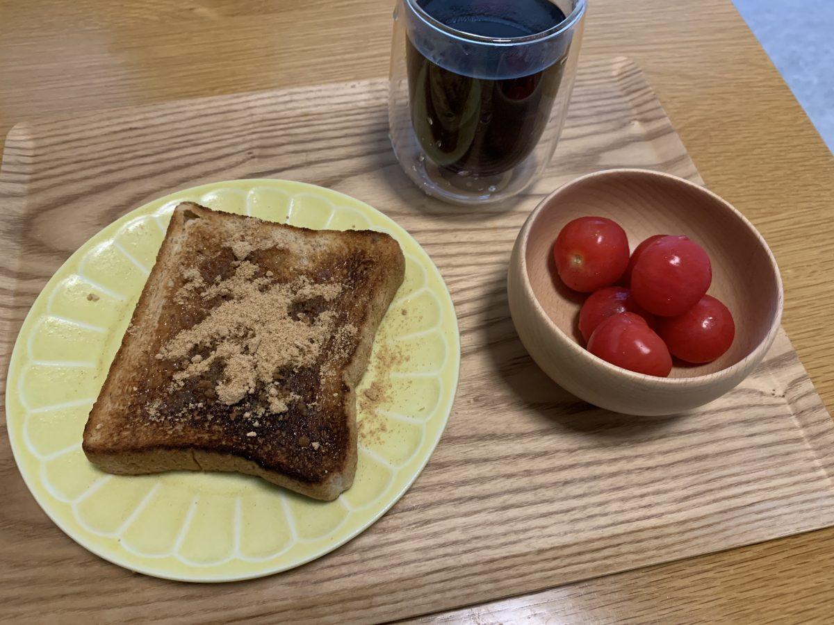 きな粉パンで朝ごはん