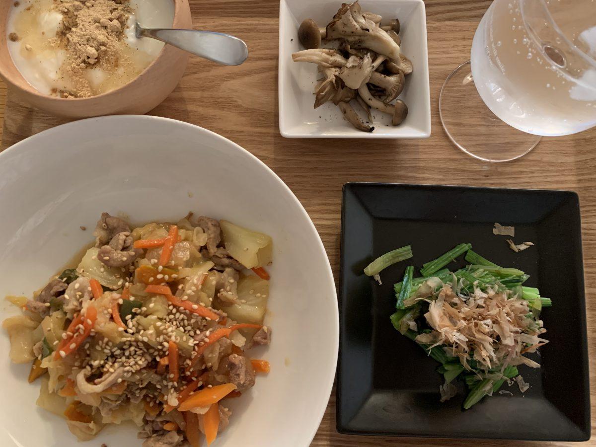 豚味噌野菜炒め