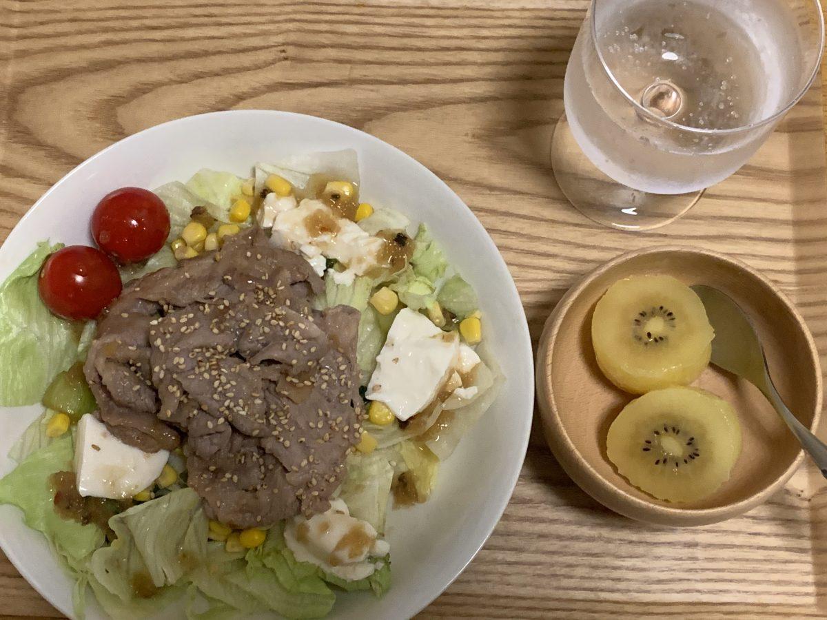 豚肉豆腐サラダ