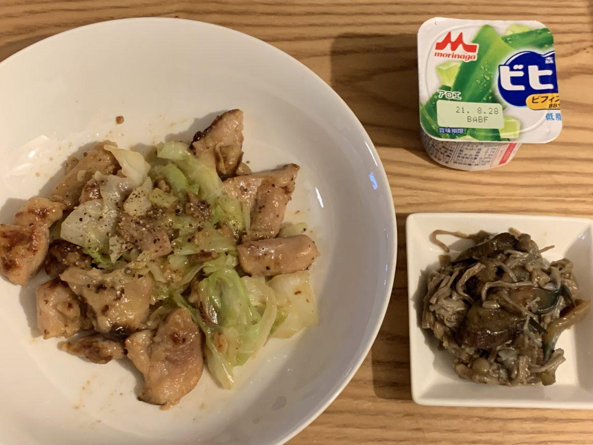 鶏モモ肉とキャベツのガーリックアンチョビマヨ和え