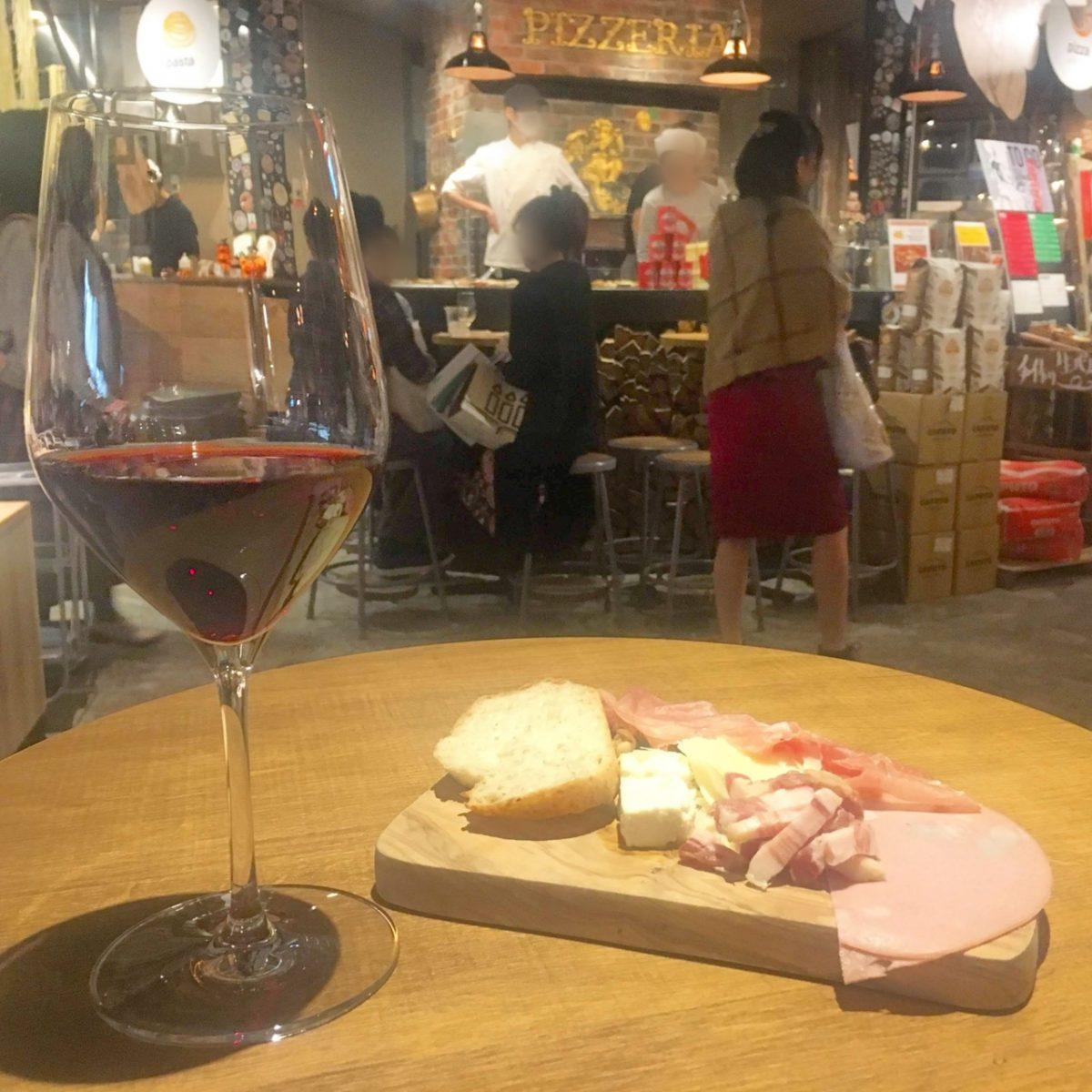 ルクアのフードホール『merca(メルカ)』でワインに生ハム、ジェラートを♡
