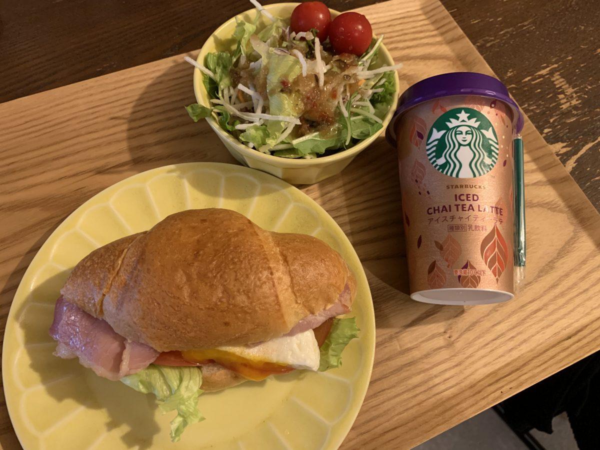 ベーコンレタストマトエッグ塩パンサンドイッチ